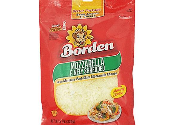 Queso Mozzarella Rallado Regular Borden 8oz