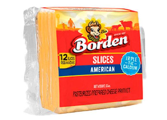 Queso Americano Regular 12 Rebanadas Borden