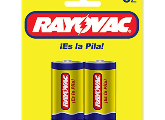 Baterias Blister C-2 Rayovac Zinc Carbon