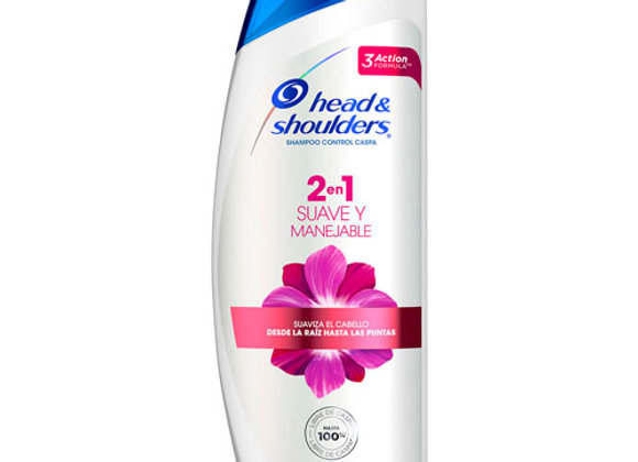 Shampoo Suave y Manejable 2in1 HS 180 ml