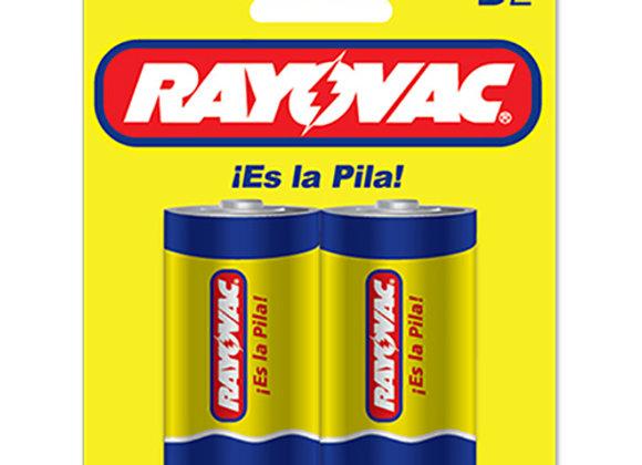 Baterias Blister D-2 Rayovac Zinc Carbon