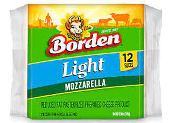 Queso Mozzarella Light 12 Rebanadas Borden
