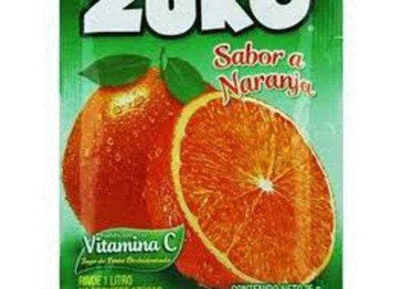 Jugo Instantaneo Sabor Naranja Zuko  25Gr
