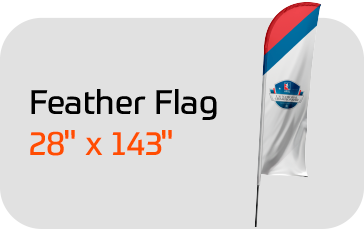 "Feather Flag FootGolf Large 28"" X 143"". Includes Custom Design, Po"