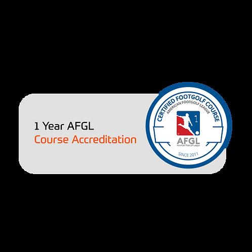 FootGolf 1 Year AFGL Course Accreditation