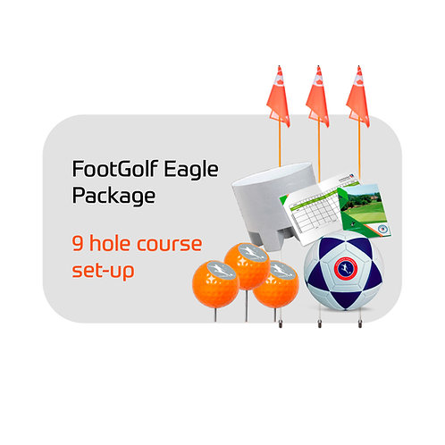 FootGolf Eagle Package Complete 9 Hole Course Set Up