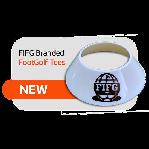 FootGolf Ball Tee 5 tees with FIFG logo