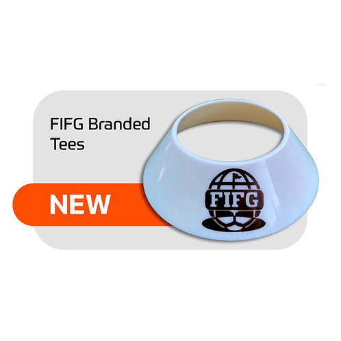 FootGolf Ball Tee 100 tees with FIFG logo