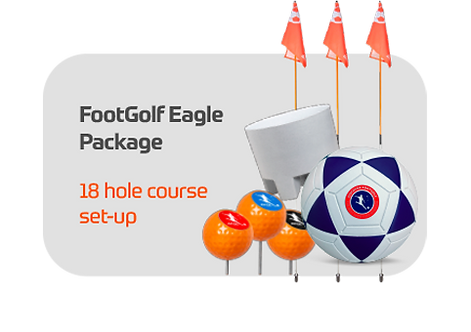 FootGolf Eagle Package Complete 18 Hole Course Set-up