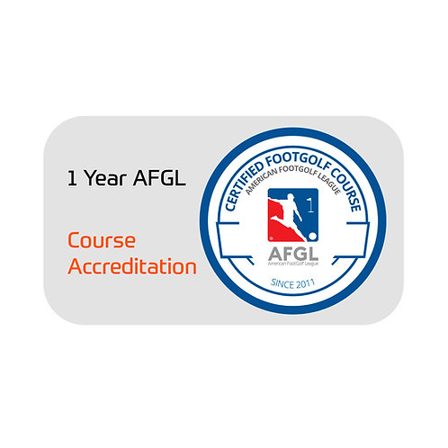 FootGolf 1 Year AFGL Course Accreditation