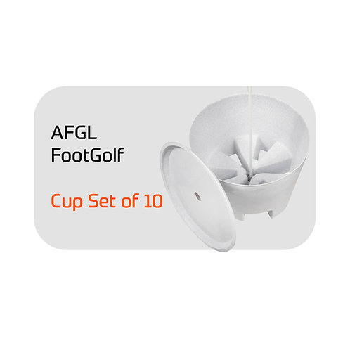 AFGL FootGolf Cup Set of 10