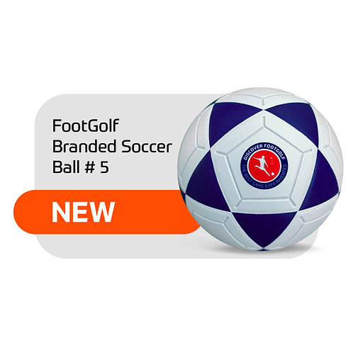 FootGolf Branded Soccer Ball #5 - 1 piece