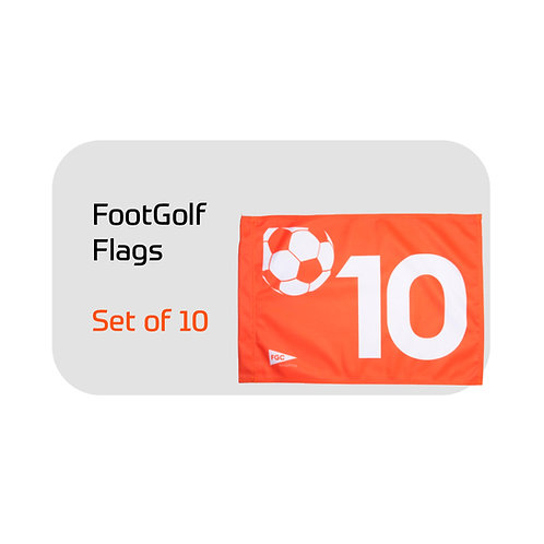 FootGolf Flags Set of 10