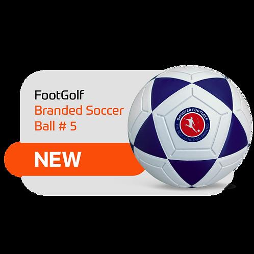 FootGolf Branded Soccer Ball #5 - 1 piece