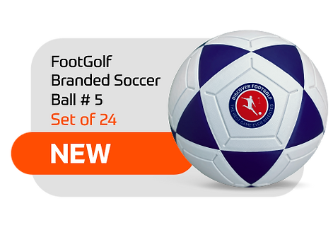 FootGolf Branded Soccer Ball Set of 24