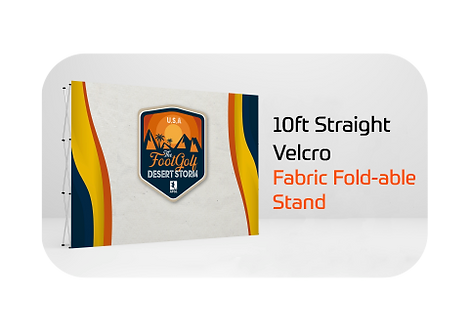 10ft Straight Velcro Fabric Fold-able Stand