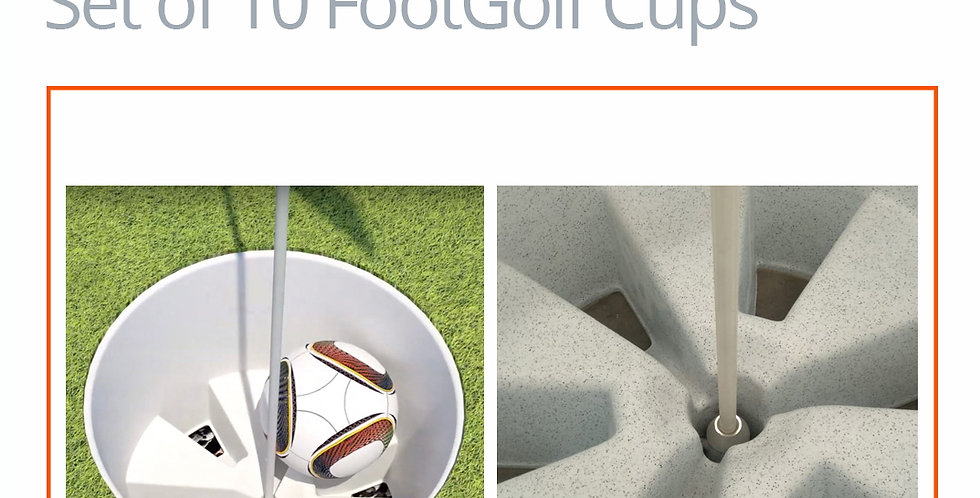 FootGolf AFGL Cup Set of 10