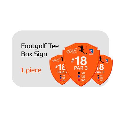 FootGolf Budget Tee Box Sign