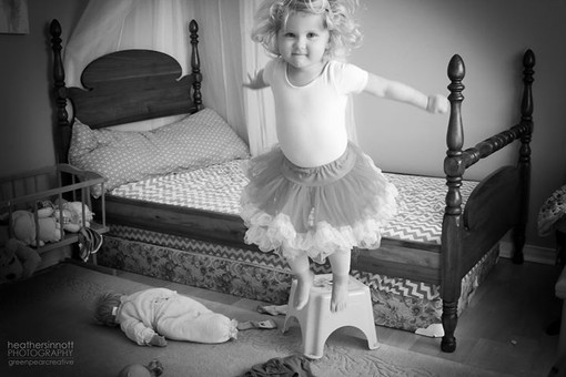 'mommy i a superhero'  as she jumps fear