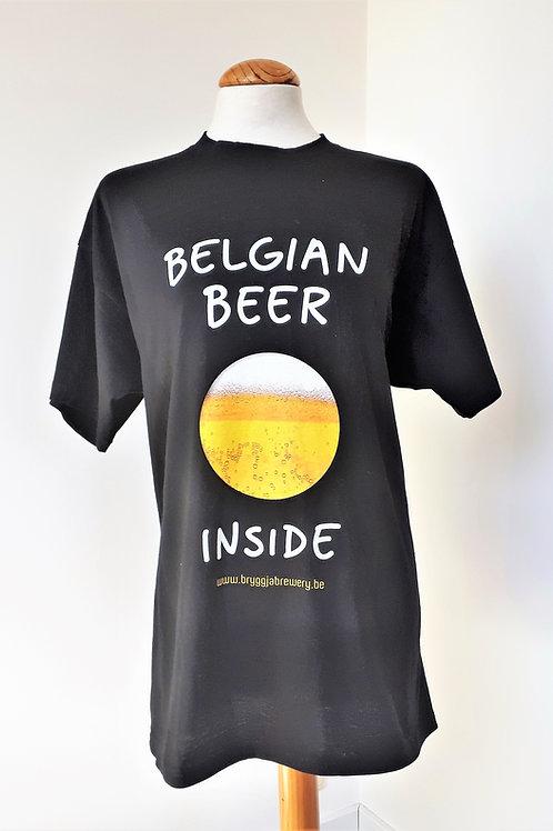 """T-shirt """"Belgian Beer Inside""""  - maat XL"""