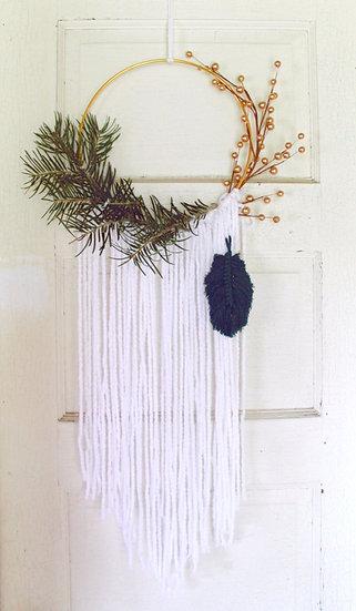 Winter Hoop Wreath Kit