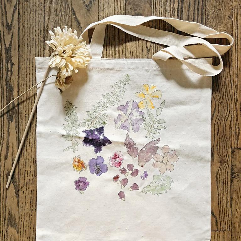 Flower Pressed Tote Workshop