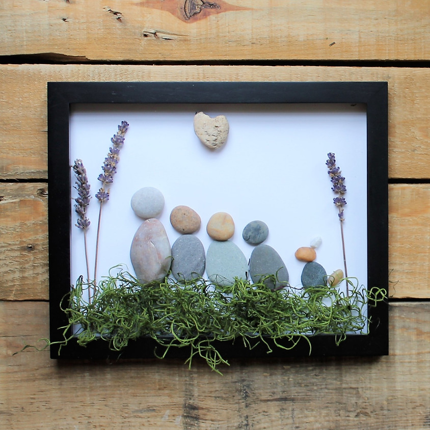 SOLD OUT: Framed Pebble Art