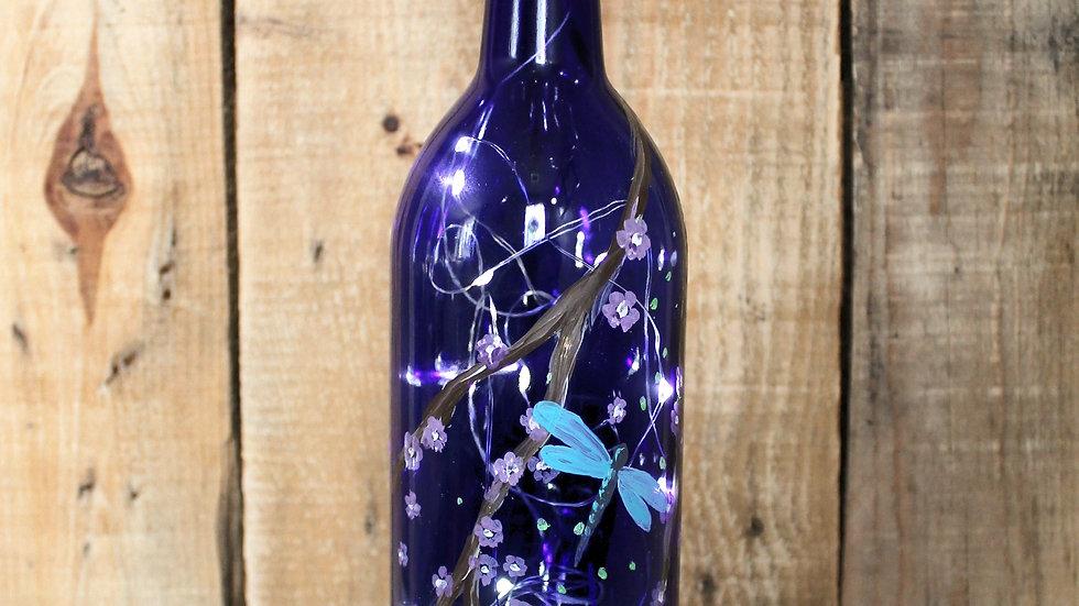 Dragonfly Wine Bottle Lantern To Go