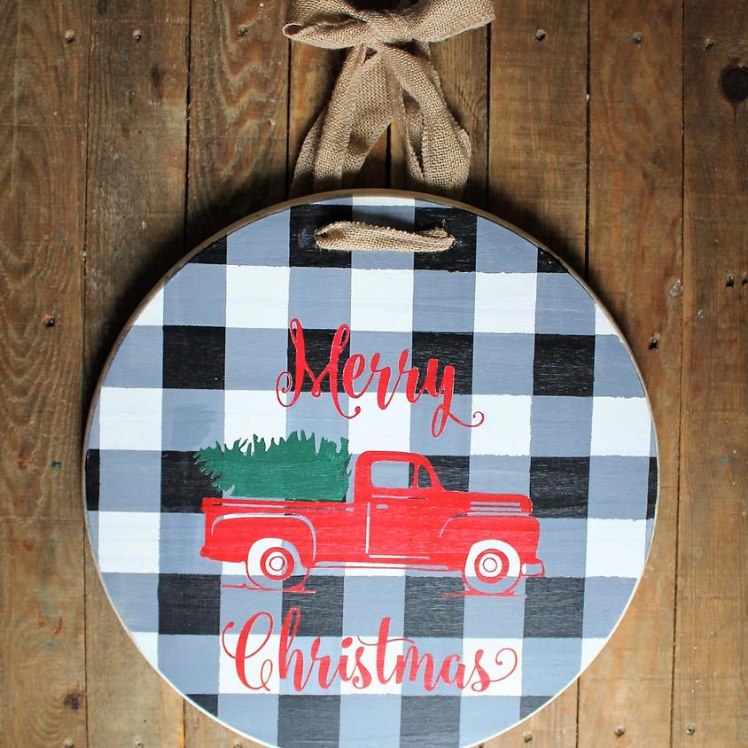 Make Your Own Holiday Door Hanger