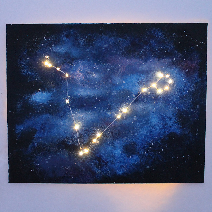 Constellation Lighted Canvas Painting