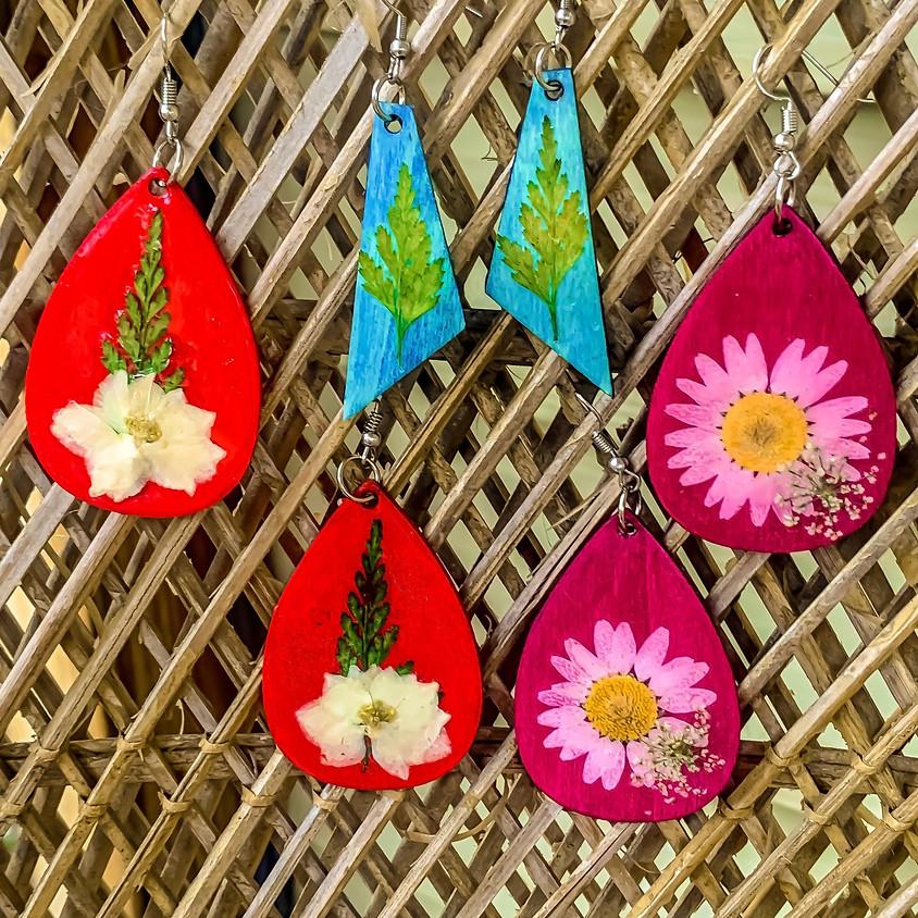 Pressed Flower Earring Workshop