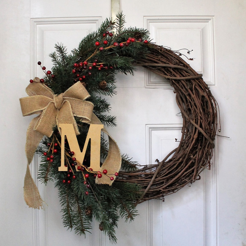 Monogram Holiday Wreath Making