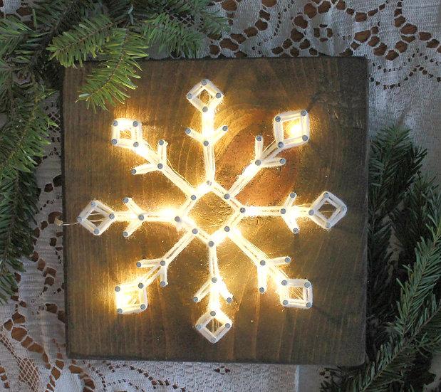 Sparkling Snowflake String Art To Go