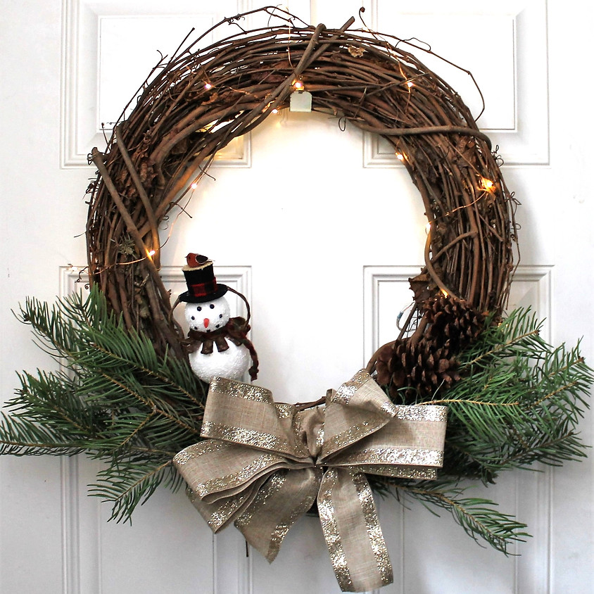 Holiday Wreath with Twinkle Lights Workshop