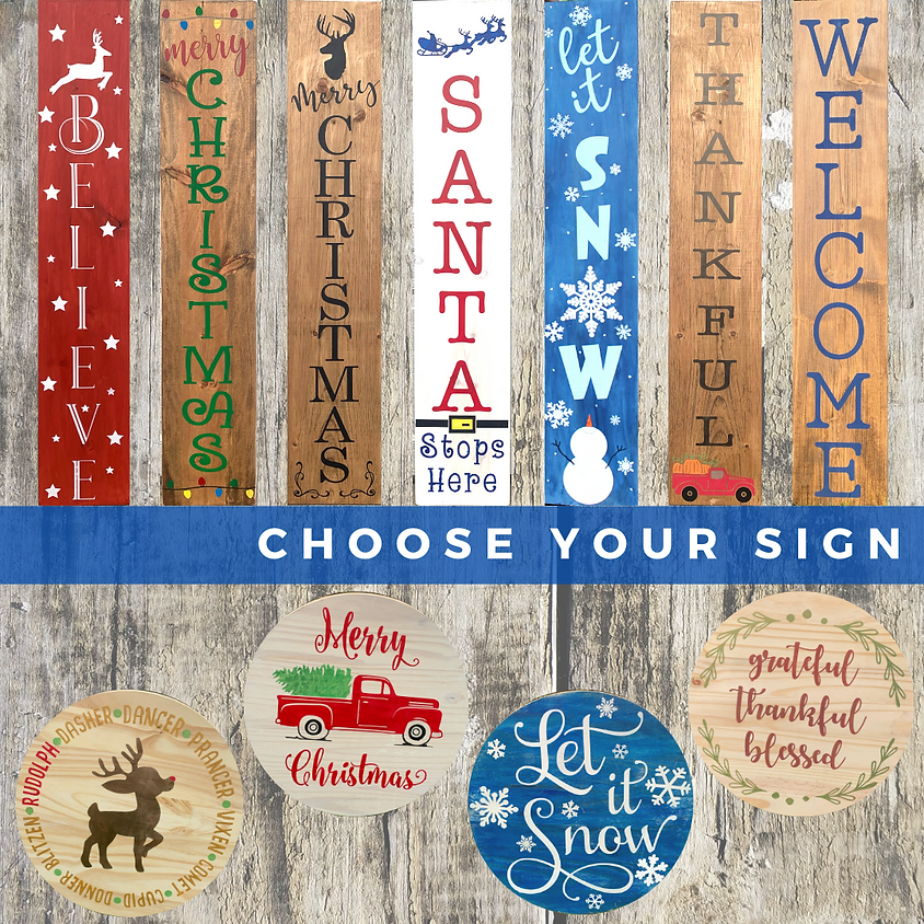 SALES CLOSED: Holiday Wooden Sign Workshop