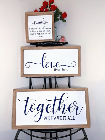 Made to Order Family Signs
