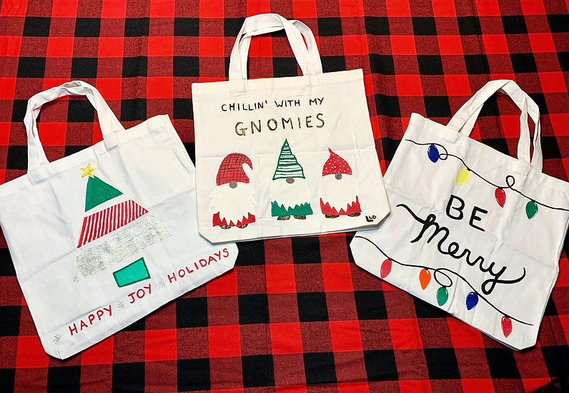 Painted Holiday Totes To Go