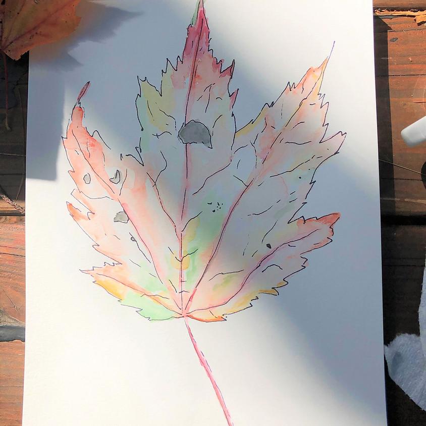 Leaf Walk & Watercolor Painting Workshop