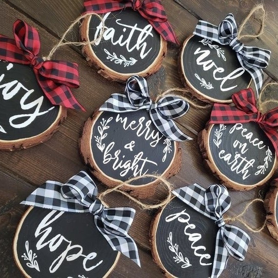 Rustic Farmhouse Holiday Ornaments Workshop