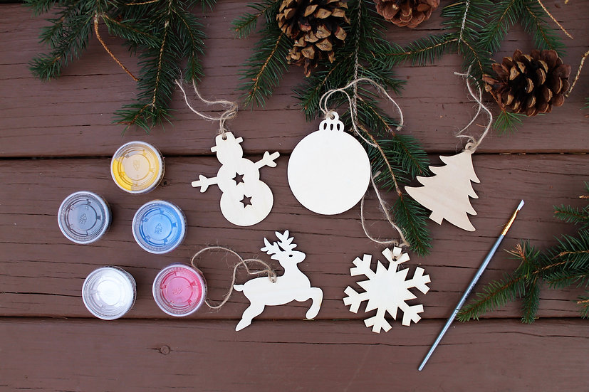 Painted Wooden Ornaments To Go