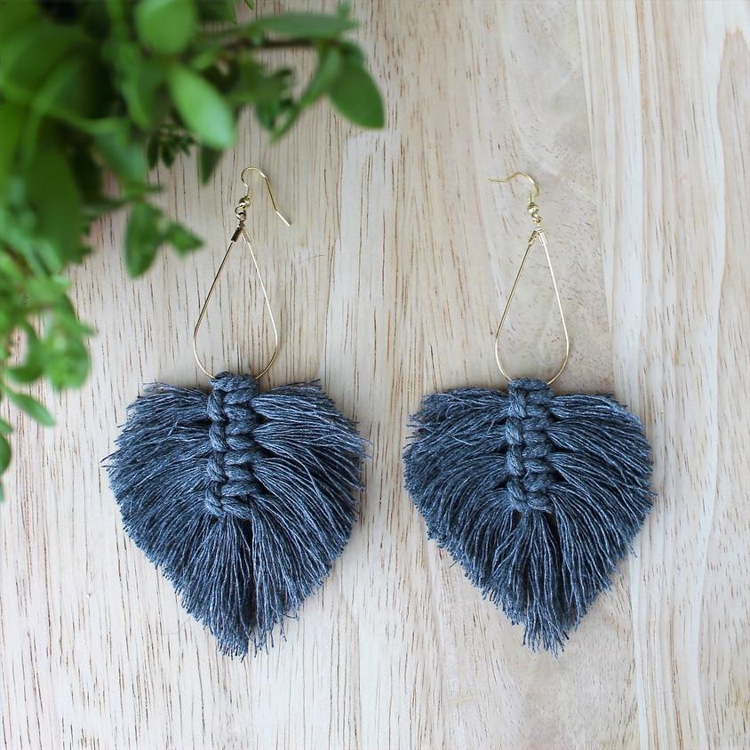 Macrame Leaf Earrings Workshop