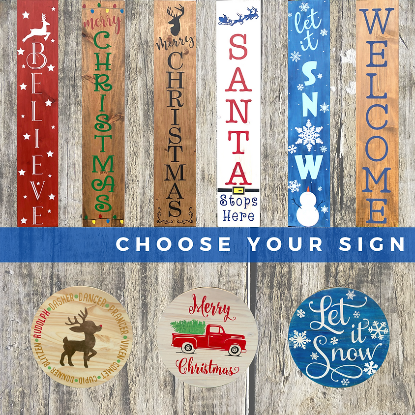 Holiday Wooden Sign Workshop