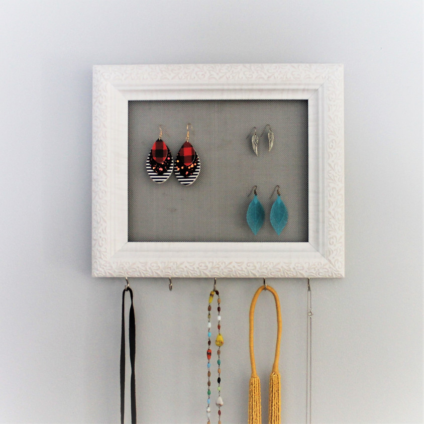 Jewelry Hanger and Faux Leather Earrings