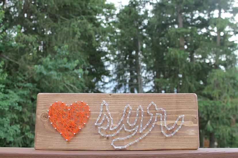 Syracuse Love String Art To Go