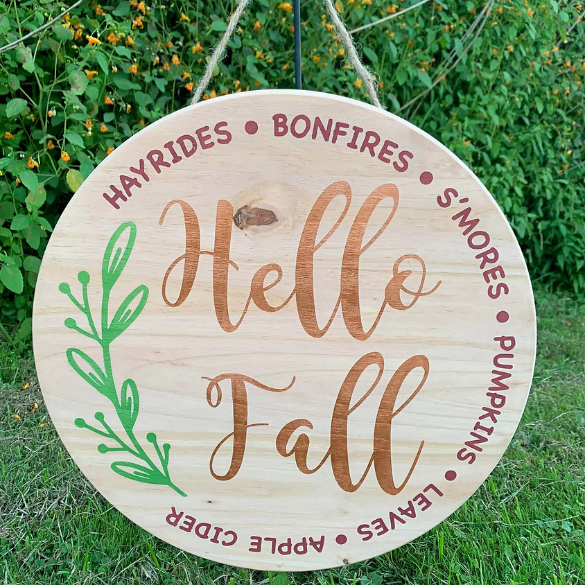 Hello Fall Sign Workshop