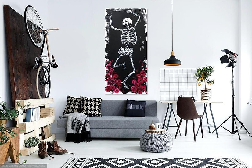 """""""Skeleton Dancer"""" Original 24x48 Painting by Sugar Moon Artistry"""