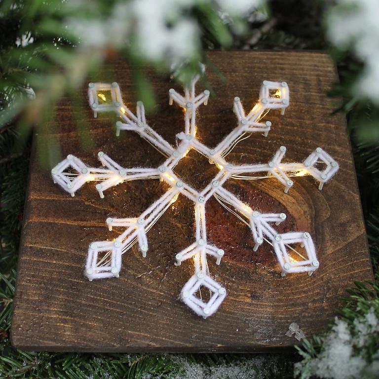 Sparkling Snowflake String Art Workshop