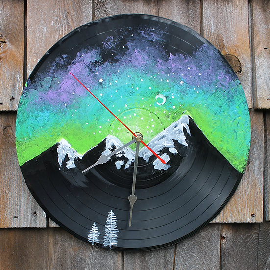 Galaxy Vinyl Record Clock