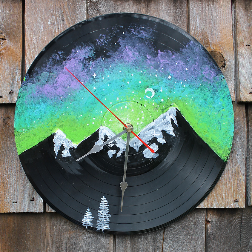 Make Your Own Vinyl Record Clock
