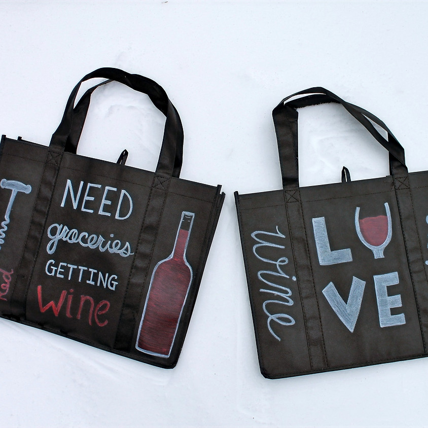 Painted Reusable Totes